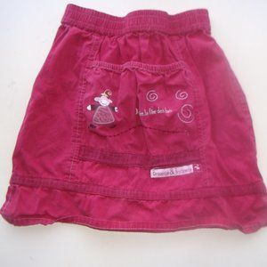 Red Skirt Fits Girl Size 3T